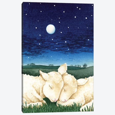 Sleeping Lambs 3-Piece Canvas #TLZ70} by Tracy Lizotte Canvas Artwork