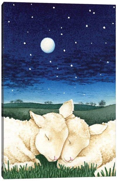 Sleeping Lambs Canvas Art Print