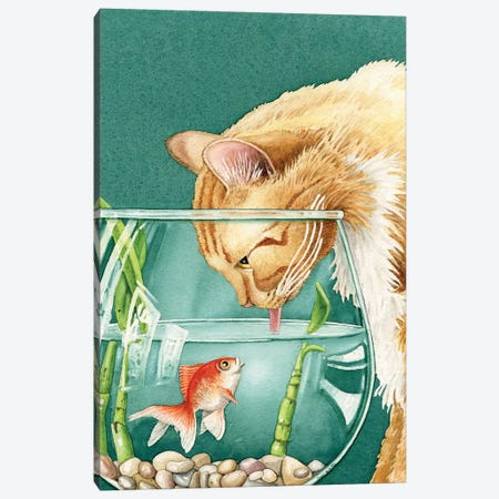 Something's Fishy Canvas Print #TLZ71} by Tracy Lizotte Canvas Artwork