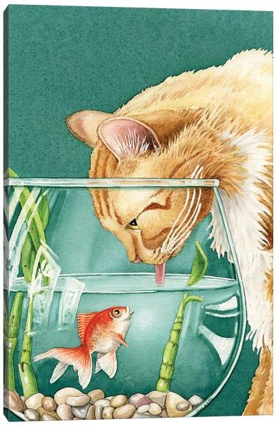 Something's Fishy Canvas Art Print