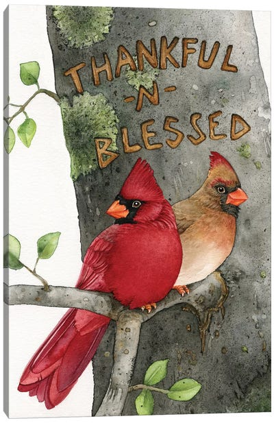 Thankful N Blessed Canvas Art Print