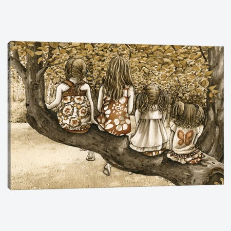 The Tree Climbers Canvas Print #TLZ82} by Tracy Lizotte Canvas Print