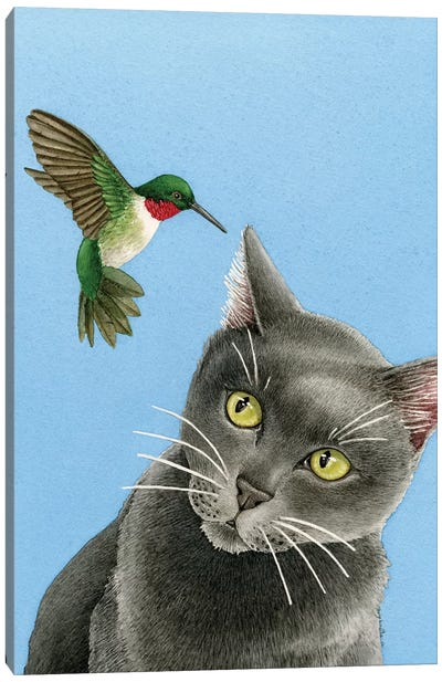 There's A Humming In My Ear Canvas Art Print