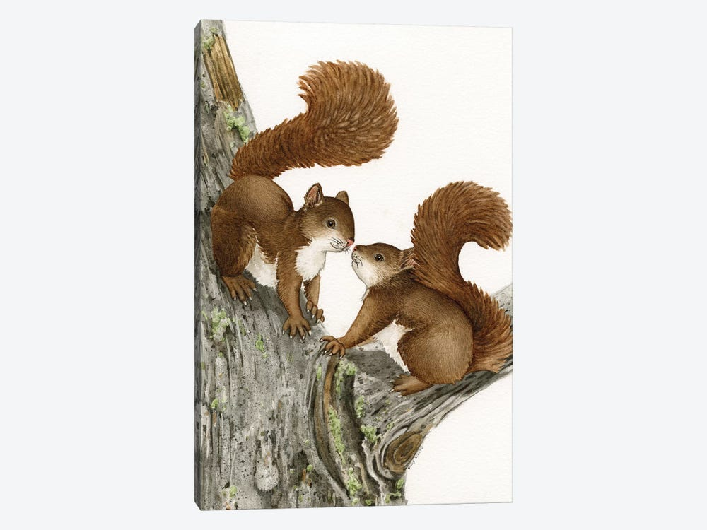 Two Squirrels by Tracy Lizotte 1-piece Art Print