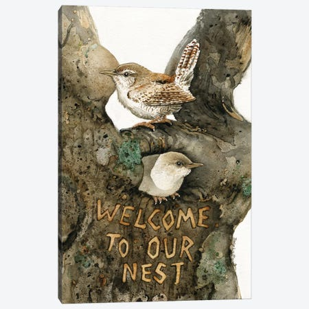 Welcome To Our Nest Canvas Print #TLZ90} by Tracy Lizotte Canvas Artwork
