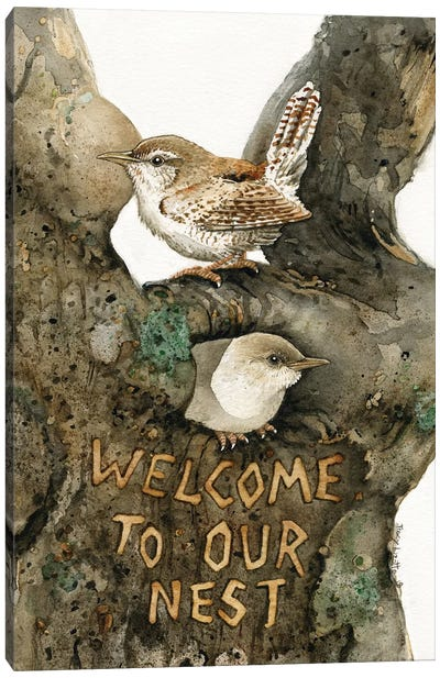 Welcome To Our Nest Canvas Art Print