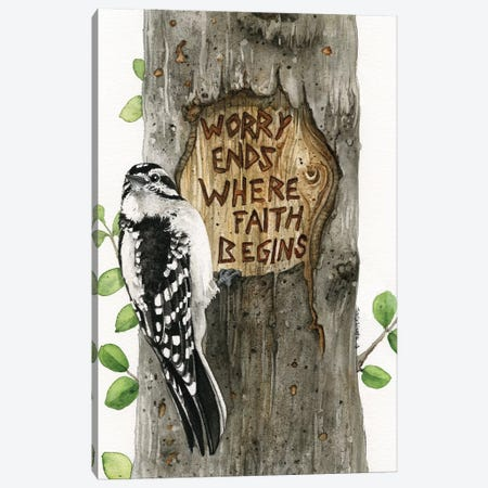 Worry Ends Where Faith Begins Canvas Print #TLZ95} by Tracy Lizotte Art Print
