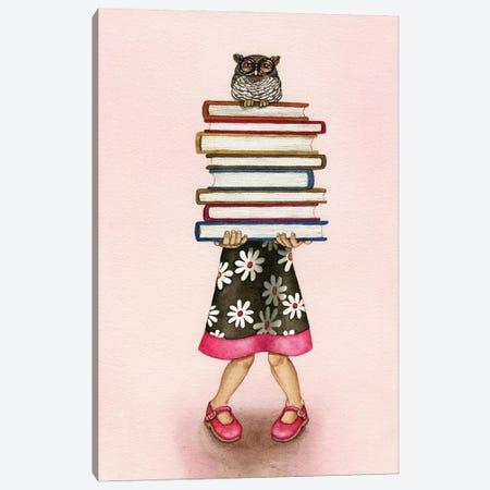 Read A Book Canvas Print #TLZ96} by Tracy Lizotte Art Print
