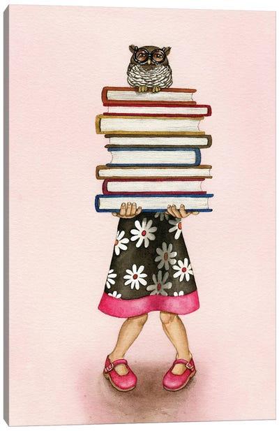 Read A Book Canvas Art Print
