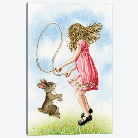 Jumping Rope Canvas Print #TLZ97} by Tracy Lizotte Art Print