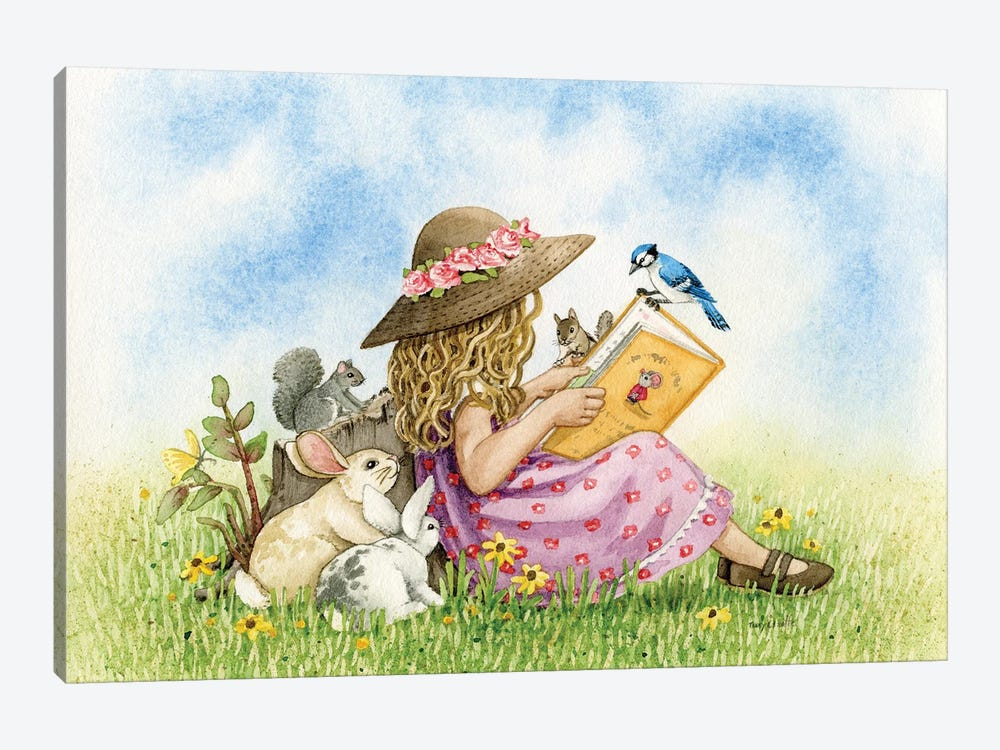 Reading by Tracy Lizotte 1-piece Canvas Print