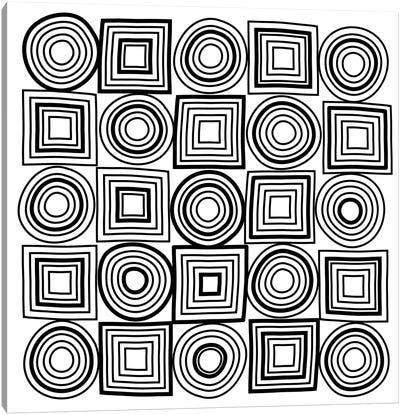 Circle Square Mixed Lines  Canvas Art Print
