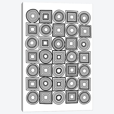Circle Square Mixed Lines Portrait Canvas Print #TMD14} by The Maisey Design Shop Canvas Art