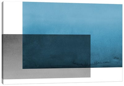 Colorblock Blue Gray Canvas Art Print