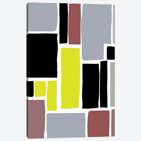 Multi-Colored Cutout Blocks Canvas Print #TMD20} by The Maisey Design Shop Canvas Art