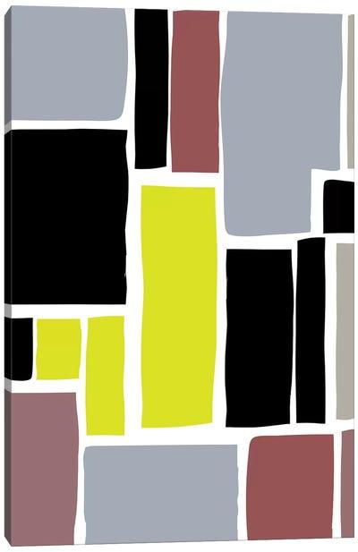 Multi-Colored Cutout Blocks Canvas Art Print