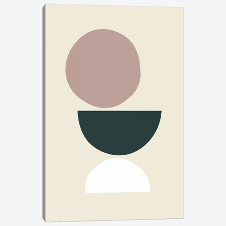 Mid-Century Shapes I Canvas Print #TMD30} by The Maisey Design Shop Canvas Art Print