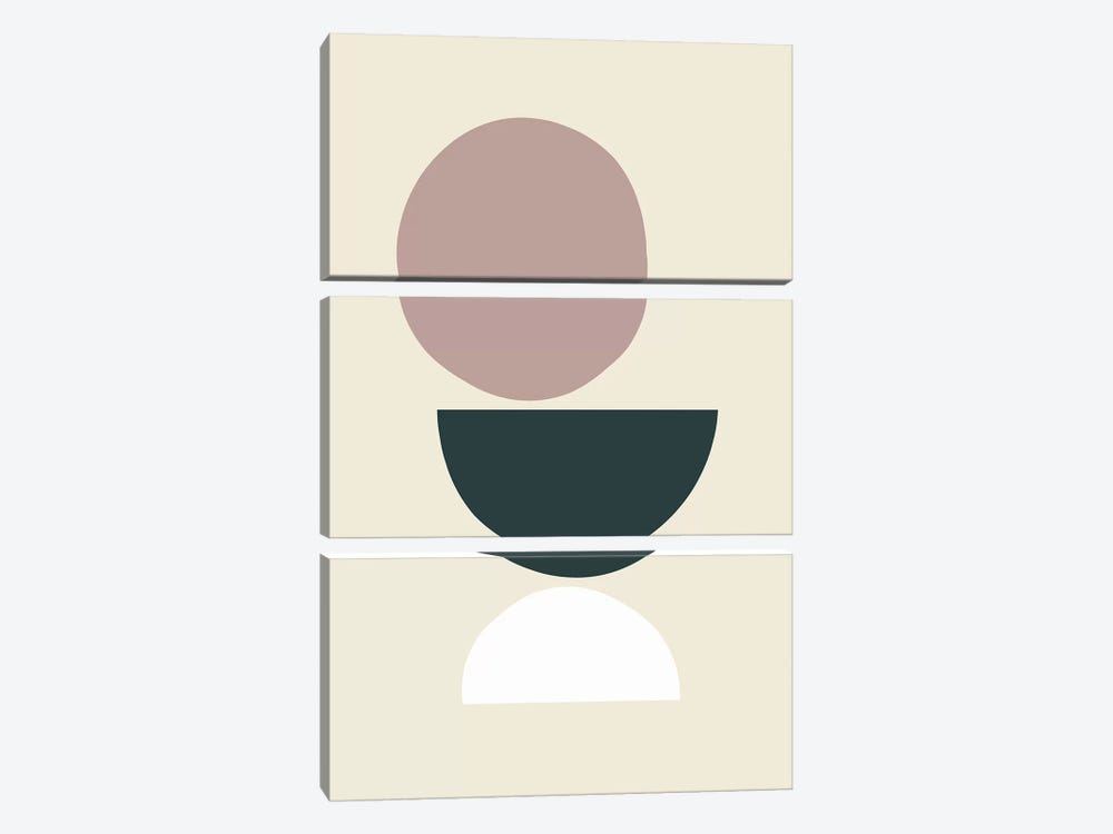 Mid-Century Shapes I by The Maisey Design Shop 3-piece Canvas Print