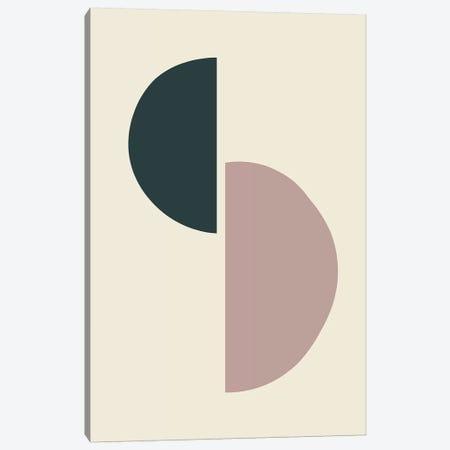 Mid-Century Half Circles II Canvas Print #TMD31} by The Maisey Design Shop Art Print