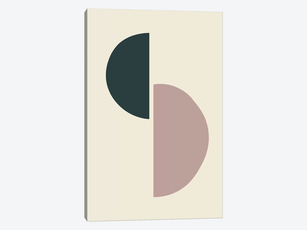 Mid-Century Half Circles II by The Maisey Design Shop 1-piece Canvas Wall Art