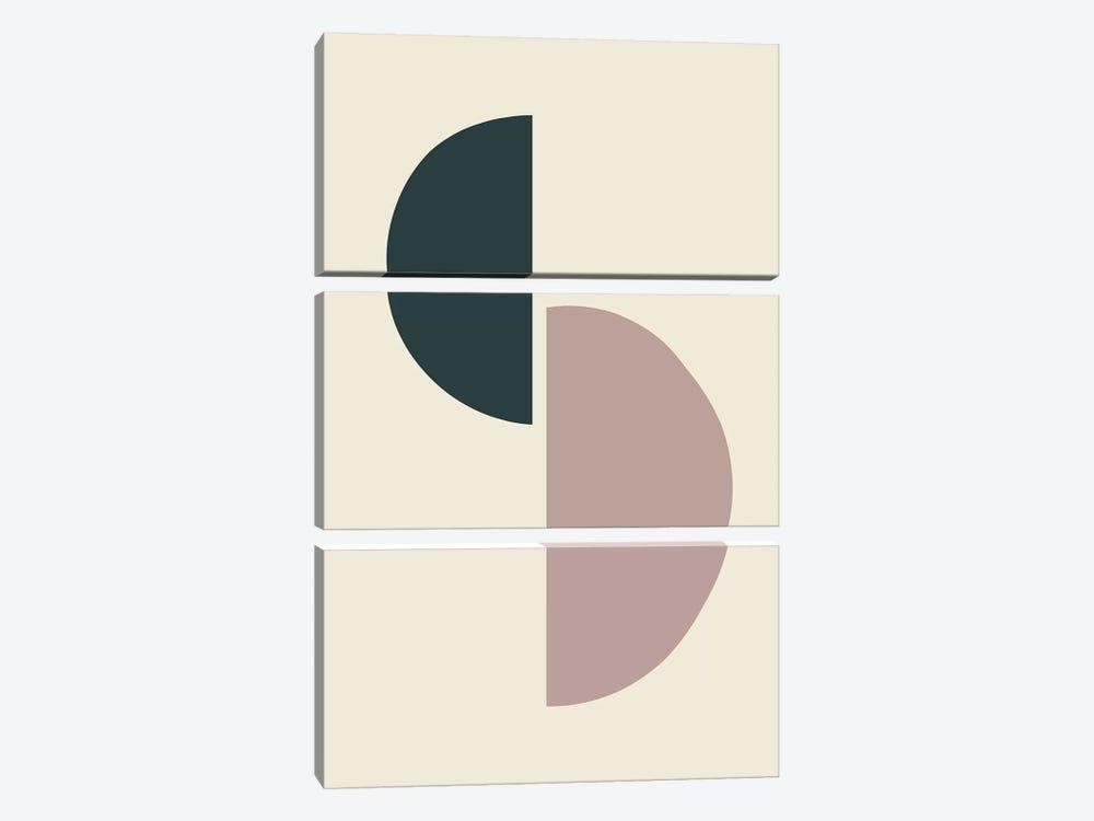 Mid-Century Half Circles II by The Maisey Design Shop 3-piece Canvas Artwork