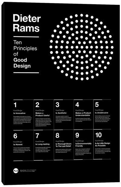 Ten Principles of Good Design Canvas Art Print