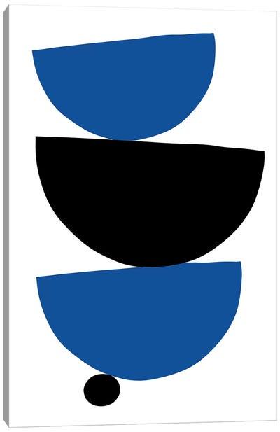 Stacked - Black & Blue Canvas Art Print
