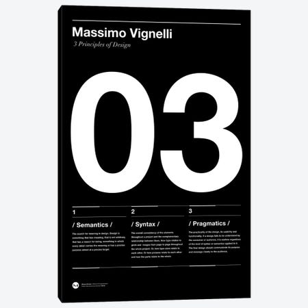 Vignelli's Three Principles of Design Canvas Print #TMD52} by The Maisey Design Shop Canvas Art Print