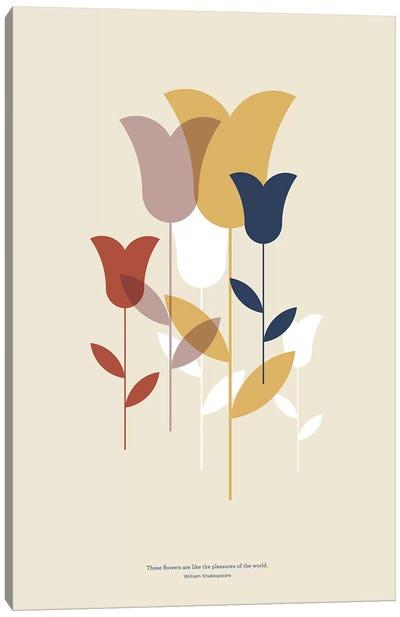 Mid-Century Flowers Canvas Art Print