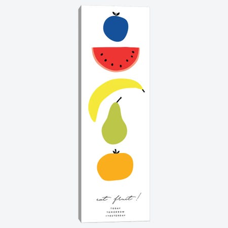 Multi-Colored Fruit Set Canvas Print #TMD62} by The Maisey Design Shop Canvas Artwork