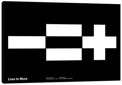 Less Equals More on Black Canvas Art Print