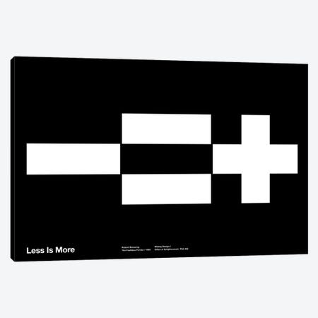 Less Equals More on Black Canvas Print #TMD63} by The Maisey Design Shop Canvas Wall Art