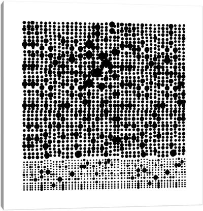 Black+White Dot Gallery Wall I Canvas Art Print