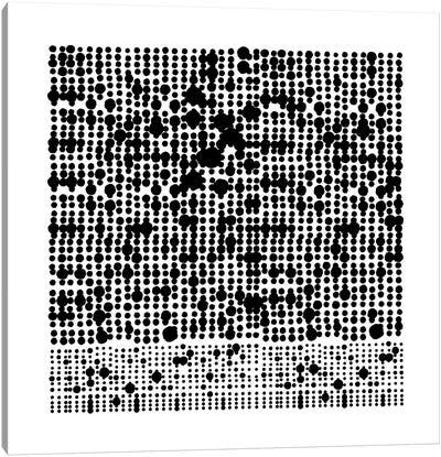 Black+White Dot Gallery Wall I Canvas Art Print