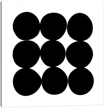 Black+White Dot Gallery Wall II Canvas Art Print
