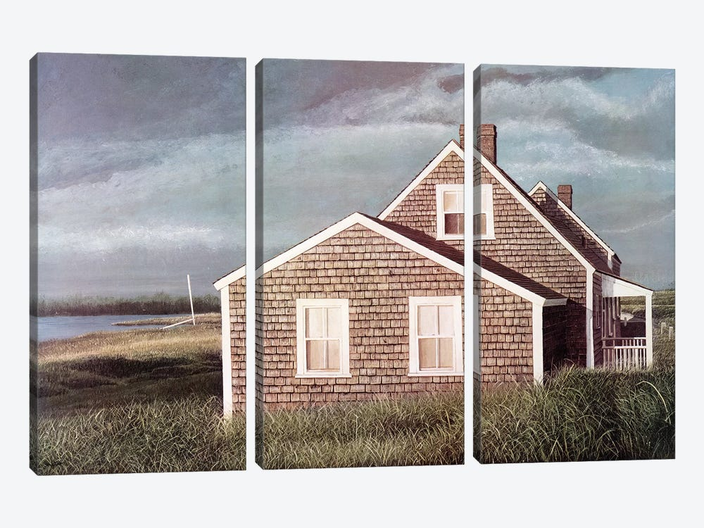 Crooked House by Tom Mielko 3-piece Art Print