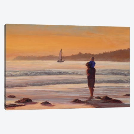 Fathers Day at Sunset Canvas Print #TMI15} by Tom Mielko Art Print