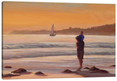 Fathers Day at Sunset Canvas Art Print