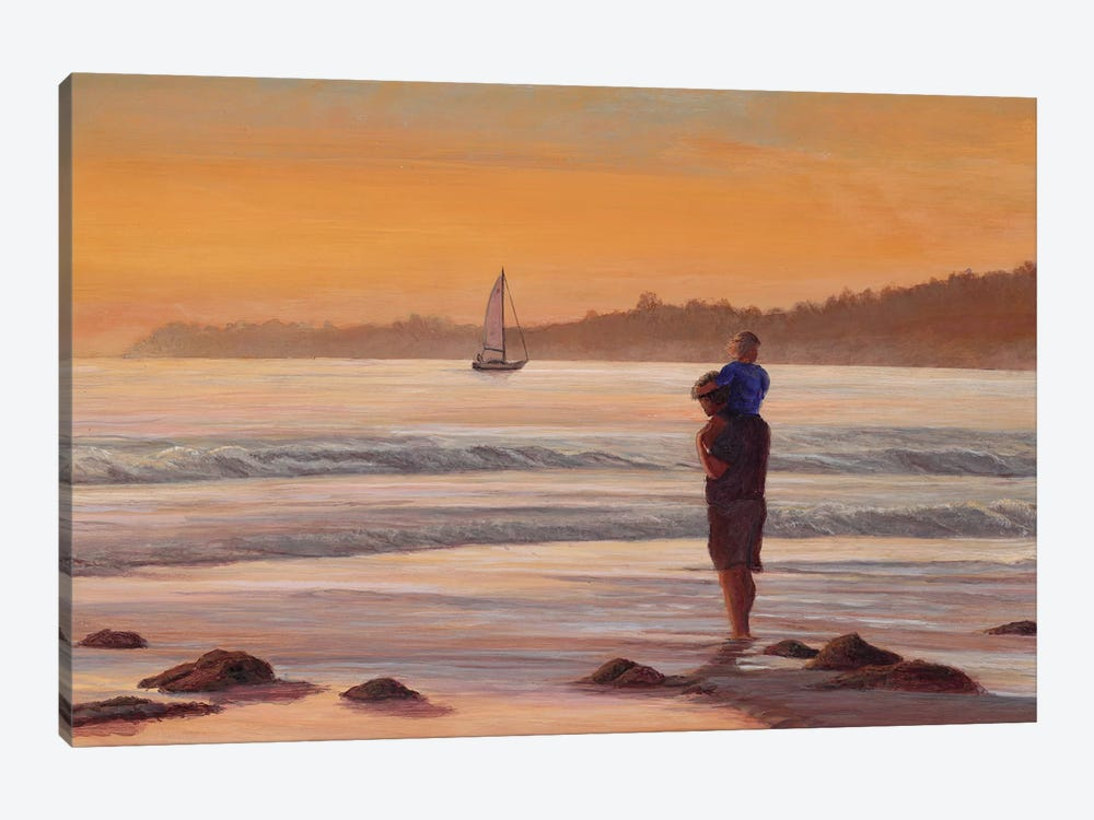Fathers Day at Sunset by Tom Mielko 1-piece Art Print
