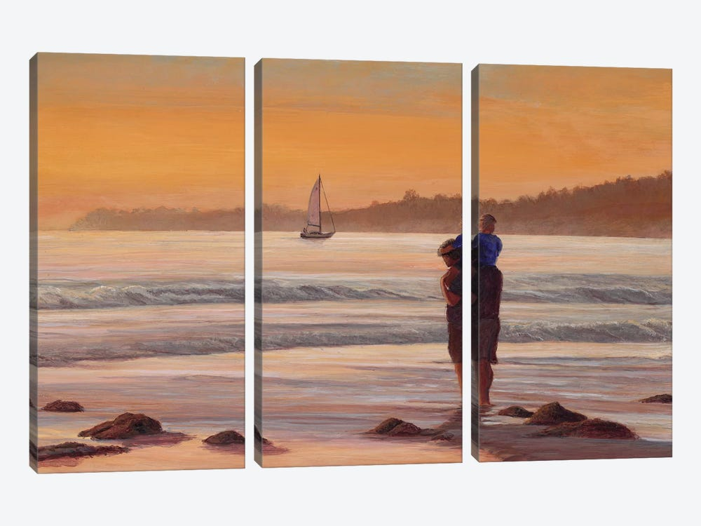 Fathers Day at Sunset by Tom Mielko 3-piece Canvas Print