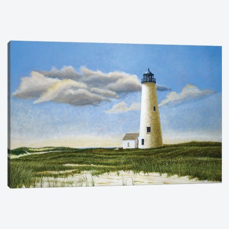 Great Point Light Canvas Print #TMI19} by Tom Mielko Canvas Artwork