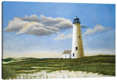 Great Point Light by Tom Mielko Canvas Art Print