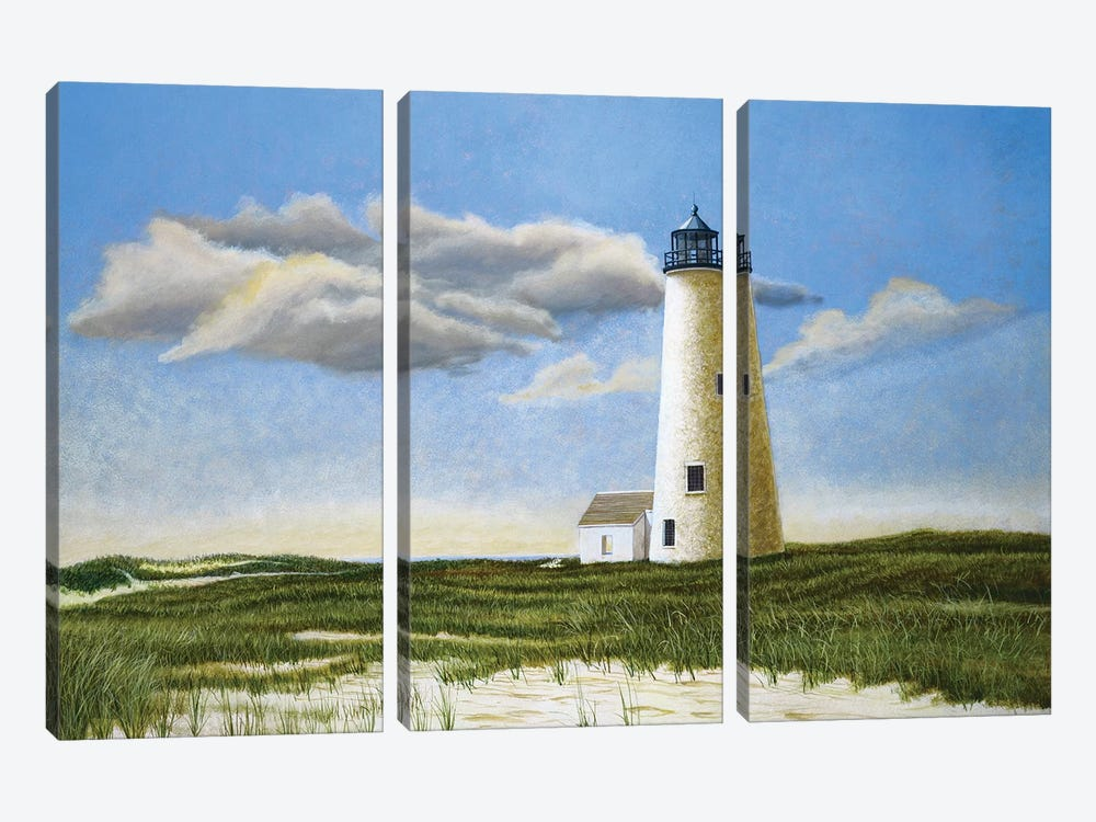 Great Point Light by Tom Mielko 3-piece Canvas Print