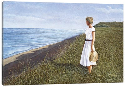 A View of the Sea by Tom Mielko Canvas Art Print