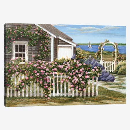 Harbor Roses Canvas Print #TMI20} by Tom Mielko Canvas Art Print