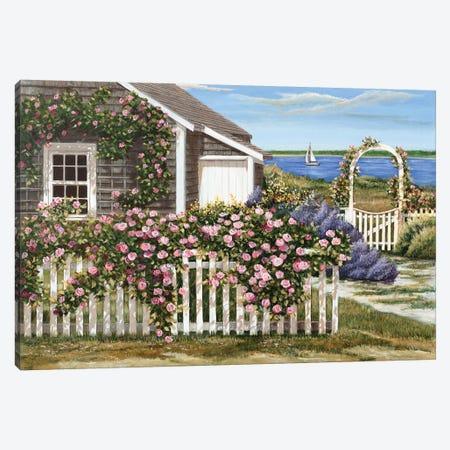Harbor Roses Canvas Print #TMI20} by Tom Mielko Canvas Art Print
