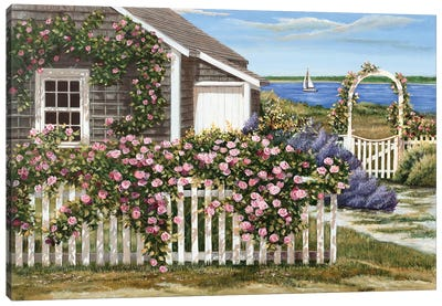 Harbor Roses Canvas Art Print