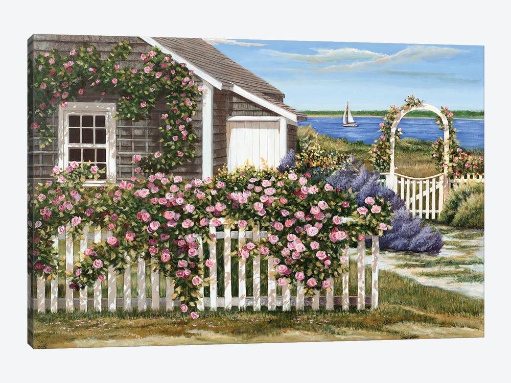 Harbor Roses by Tom Mielko 1-piece Canvas Art Print