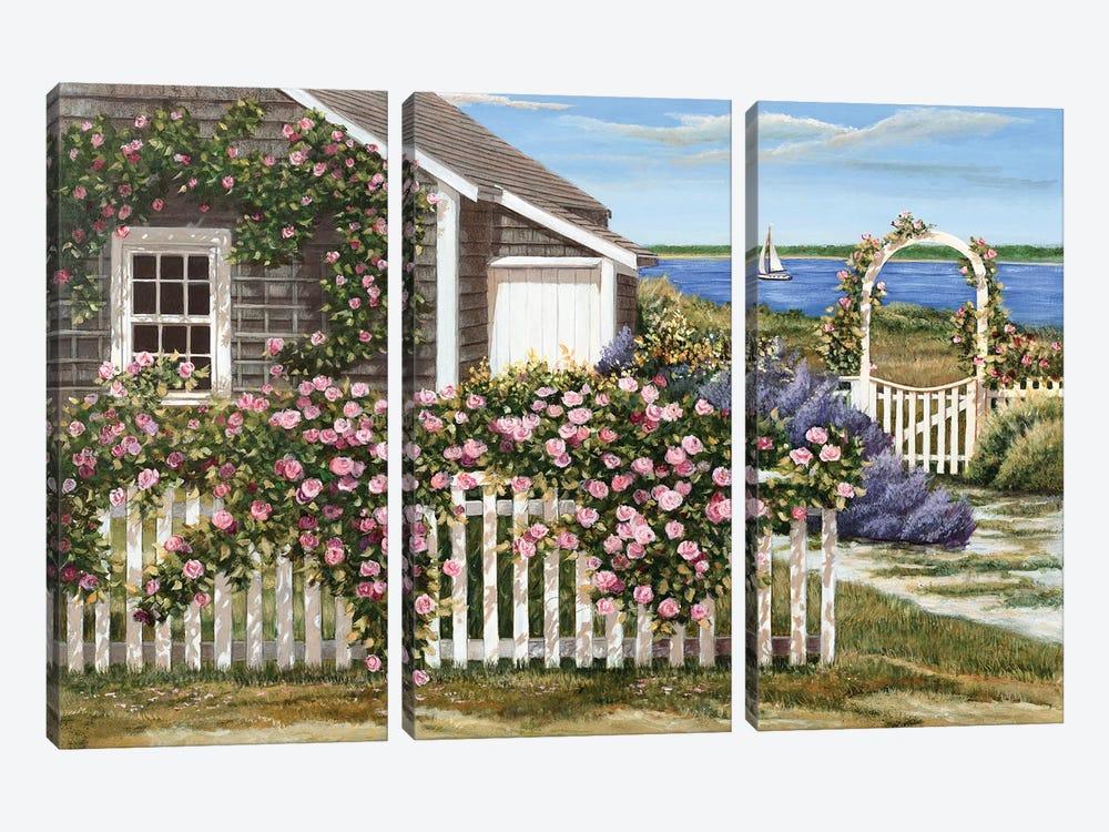 Harbor Roses by Tom Mielko 3-piece Art Print