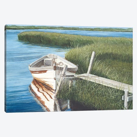 Harbor Secrets  Canvas Print #TMI21} by Tom Mielko Art Print